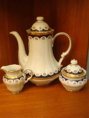 WINTERLING Three Piece Coffee Set in Royal Crown: