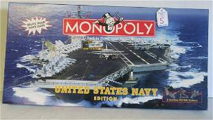 UNITED STATES NAVY EDITION of MONOPOLY, 1998:
