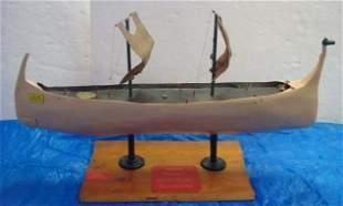 JP SPRUILL; FOLK ART SHIP, VIKING LONGSHIP HAGGAR: