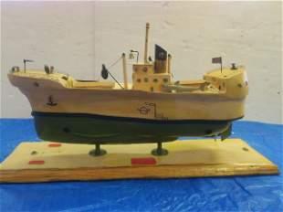 JP SPRUILL, FOLK ART Model FISHING TRAWLER ALEWIFE: