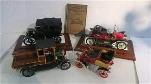 4 FRANKLIN MINT PRECISION MODELS & 1917 Model T Book: