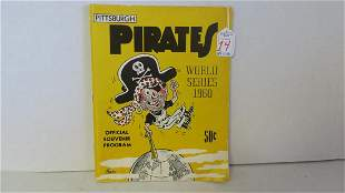 1960 PITTSBURGH PIRATES WORLD SERIES OFFICIAL PROGRAM: