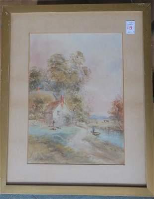 EDWARD NEVIL, Watercolor & Gouache Rural Landscape: