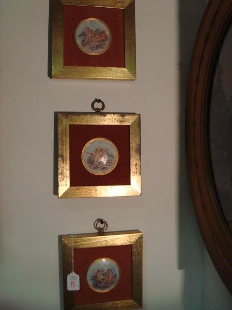 5: 3 BS CREATIONS Framed Enhanced Angels on Porcelain: