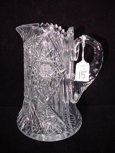 15: Heavy Cut Crystal Lemonade Pitcher:
