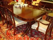 1584: 9 Piece Mahogany Dining Room Set: