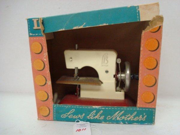 1011: LITTLE BETTY Toy Sewing Machine, Original Box: