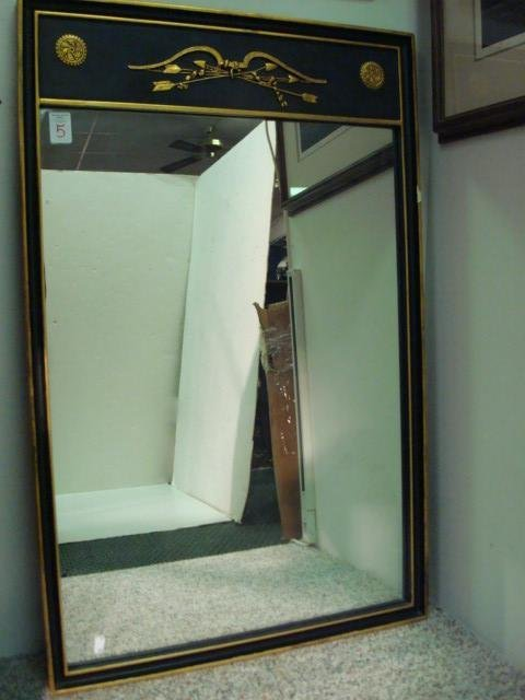 5: Black and Gold Federal Style Plate Mirror: