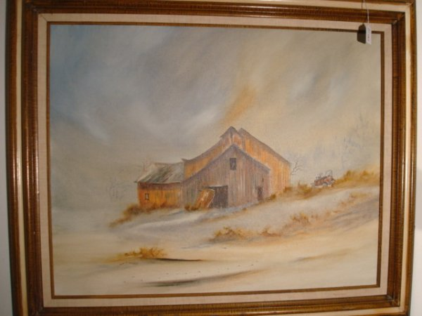 8: Signed TED HASKELL Oil on Canvas Landscape: