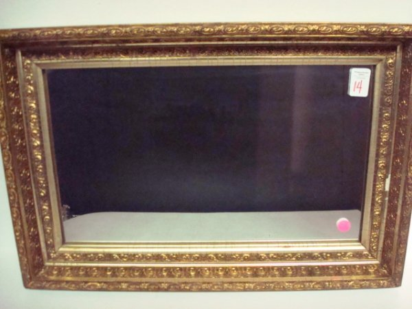 14: Wall Mirror in Gold Shadowbox Frame: