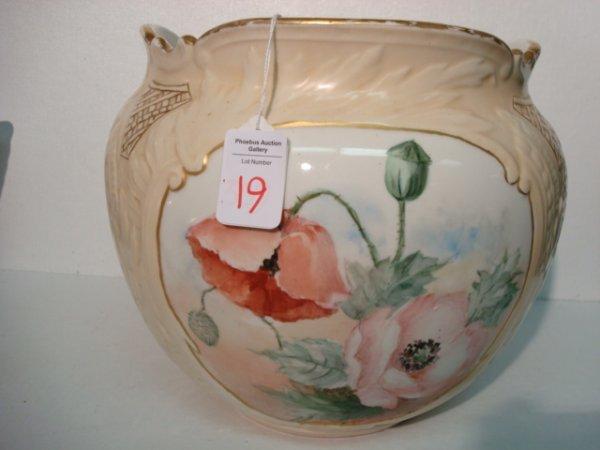 19: Large Hand painted Jardinière: