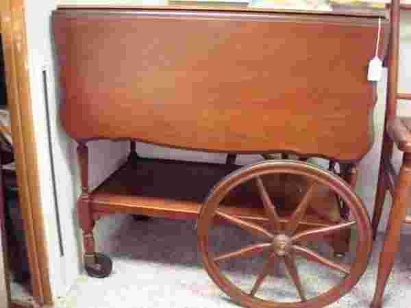 23 Imperial Furniture Mahogany Drop Leaf Tea Cart