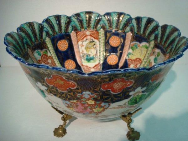 211: Antique Imari Center Bowl: