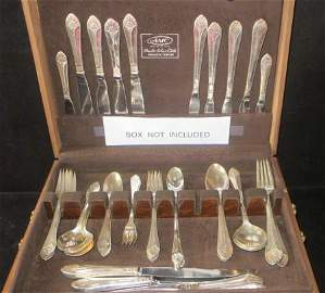 MANHATTAN Silver Service for 4, UNITED STATES LINES: