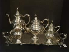 ROGERSINTERNATIONAL Sterling Silver 5 Pc Tea Set