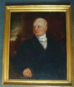 """Limner Artist, """"1860'S GENTLEMAN"""", Oil on Canvas:"""