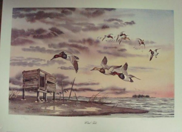 702: PENCIL SIGNED, Numbered Print, ROBERT CLONTZ Wind