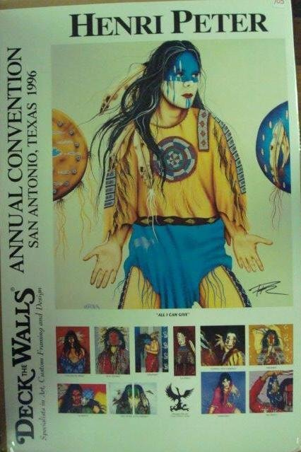 705: HENRI PETER 1996 Convention Poster, Deck the Walls