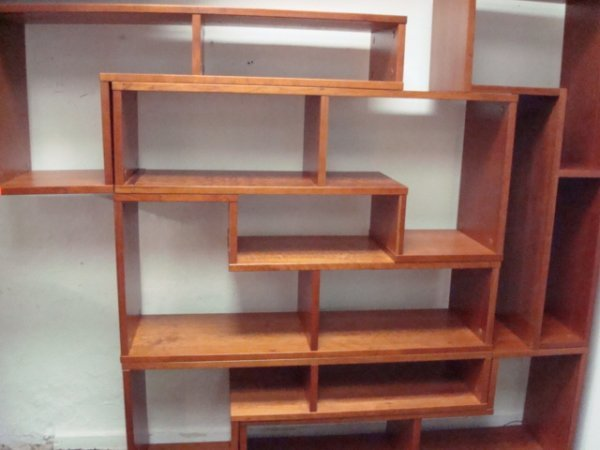 1056: Six 'L' Stackable Section Book Shelves: