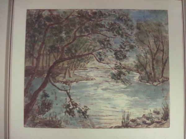 803: PS/# Print. Illegible. #17/30. River Scene.