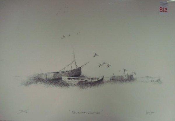 "812: PS/# Print. HERB JONES.  ""November Sketch"":"