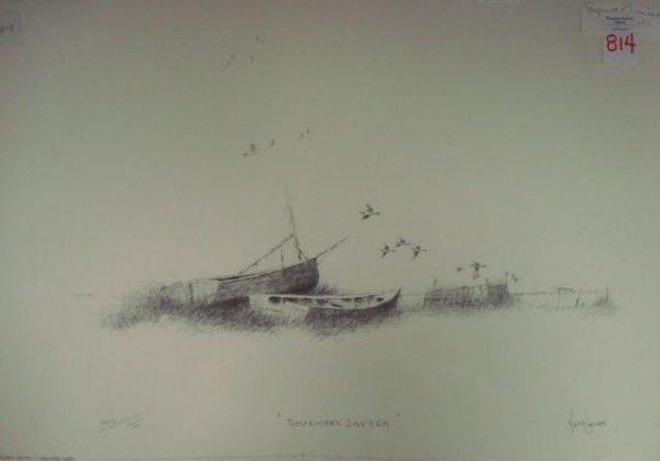 "814: PS/# Print. HERB JONES.  ""November Sketch"":"