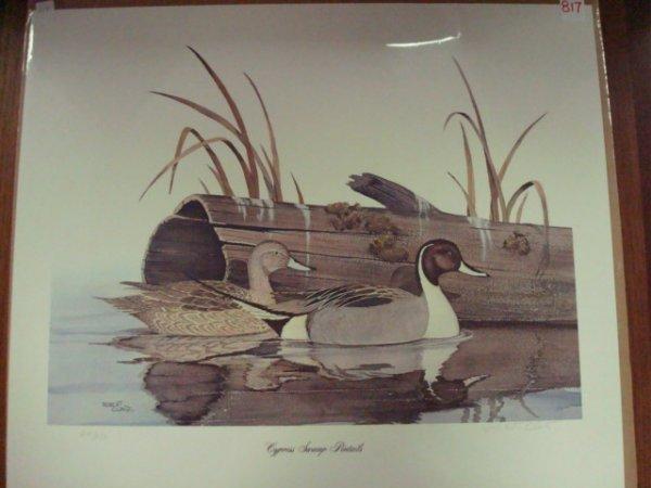 "817: PS/# Print. ROBERT CLONTZ. ""Cypress Swamp Pintails"