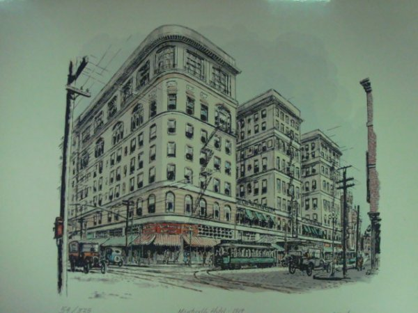 """819: PS/# Print. CASEY HOLTZINGER.  """"Monticello Hotel 1"""