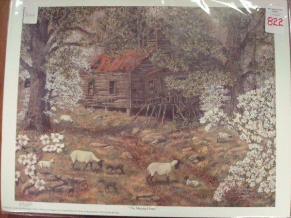 "822: PS/# Print JANE McCAULY ""The Meeting House"":"