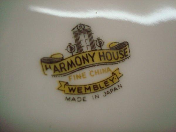 1283: 76 Piece Set Harmony House Wembley China Dinnerwa - 3