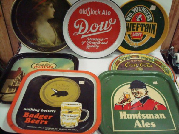 1556: 7 Beer Serving Trays: