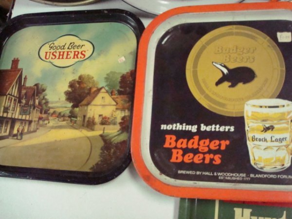 1556: 7 Beer Serving Trays: - 2