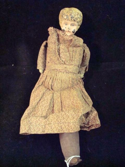 5: Vintage Tin Head and Shoulder Plate Doll: