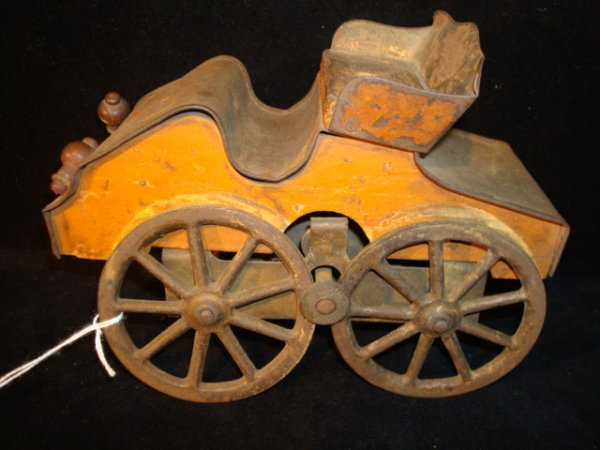 293: Antique Toy Horseless Carriage Toy Wagon: