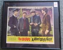 BEATLES HARD DAYS NIGHT 1964 Original Lobby Card:
