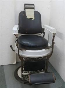 """The EUGENE BERNINGHAUS """"HERCULES"""" Barber Chair:"""