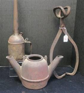 Three VintageAntique Iron Tools
