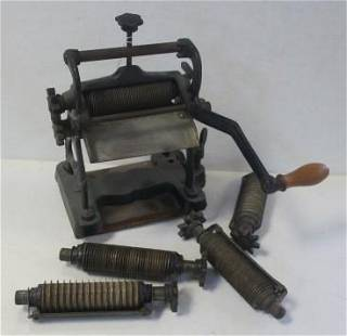 Antique Cast Iron GIUNTA Pasta Maker with Rollers