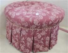 Oversize Round Button Tufted Pouf Ottoman: