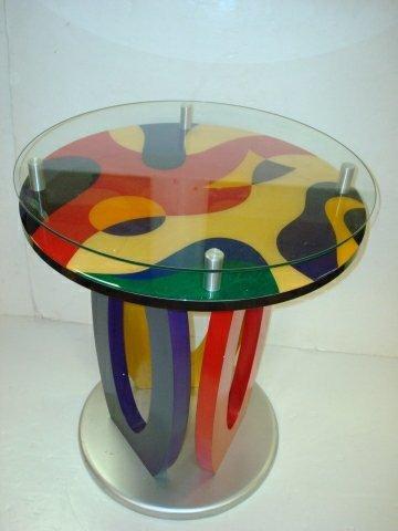 6: Designer DOUG PRINGLE Contemporary Martini Table: