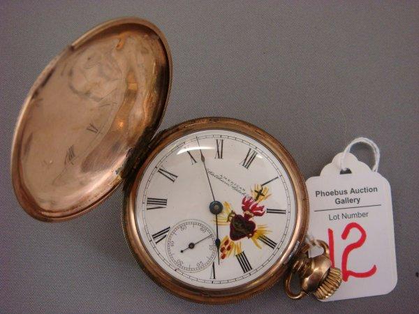 12: WALTHAM 1893 Marked 14K Hunt Case Pocket Watch: