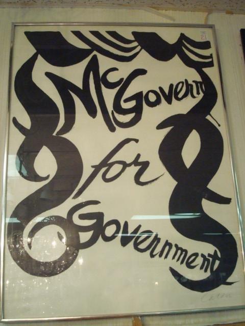 21: ALEXANDER CALDER Signed 1972 George McGovern Poster