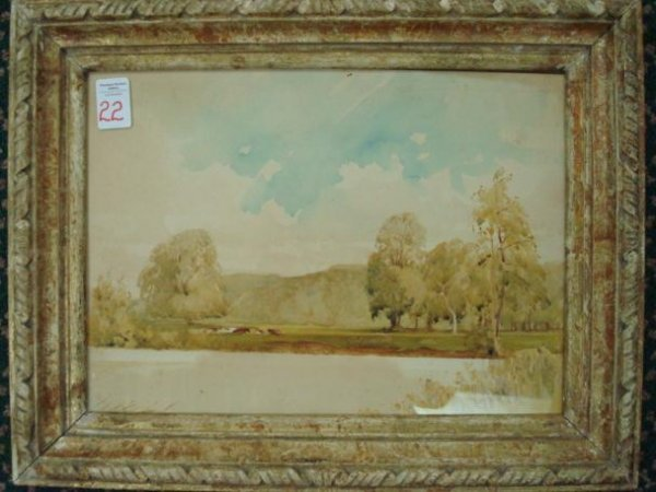 22: HOWARD KNEE, Listed Artist Signed Original Watercol