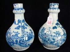 68 18th C Chinese Export Canton BottlesVases