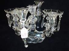 69: Elegant CAMBRIDGE Glass Candelabra with Epergne: