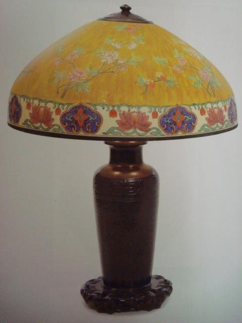 127: Stunning Signed HANDEL Table Lamp: