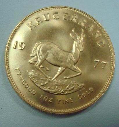 153: 1977 1 OZ. South African Fine Gold Krugerand: