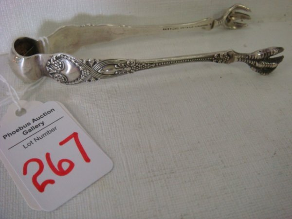 267: TIFFANY & CO. St. James Sterling Silver Tongs: