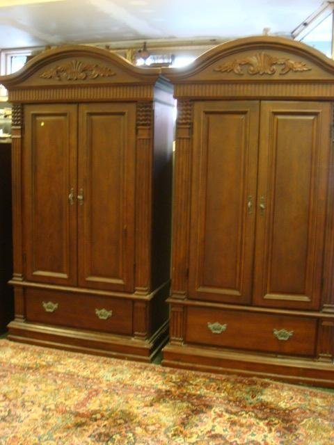 270: Pair of Matching Mahogany Armoires: