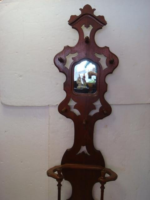 271: Gothic Revival Walnut Umbrella and Hall Stand: